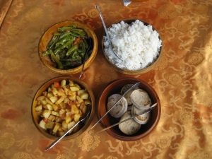 Authentic Bhutanese dish